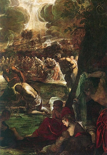 Baptism of Christ [detail: 1] by Jacopo Robusti Tintoretto